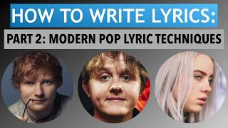 How To Write Lyrics (Part 2-Common Techniques) (Songwriting Tips Tutorial)