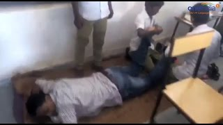 Chhattisgarh school teacher taking massage from students, video goes viral   वनइंडिया हिन्दी