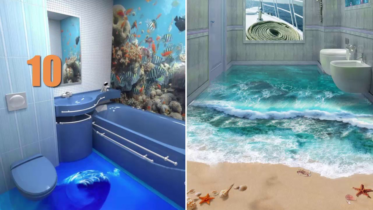 Top 18 coolest ideas about 3D epoxy floors to Turn Your Bathroom Into An  Ocean