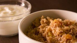 طريقة عمل أرز بالعنب المجفف واللبن