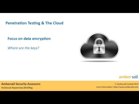 Penetration Testing and the Cloud