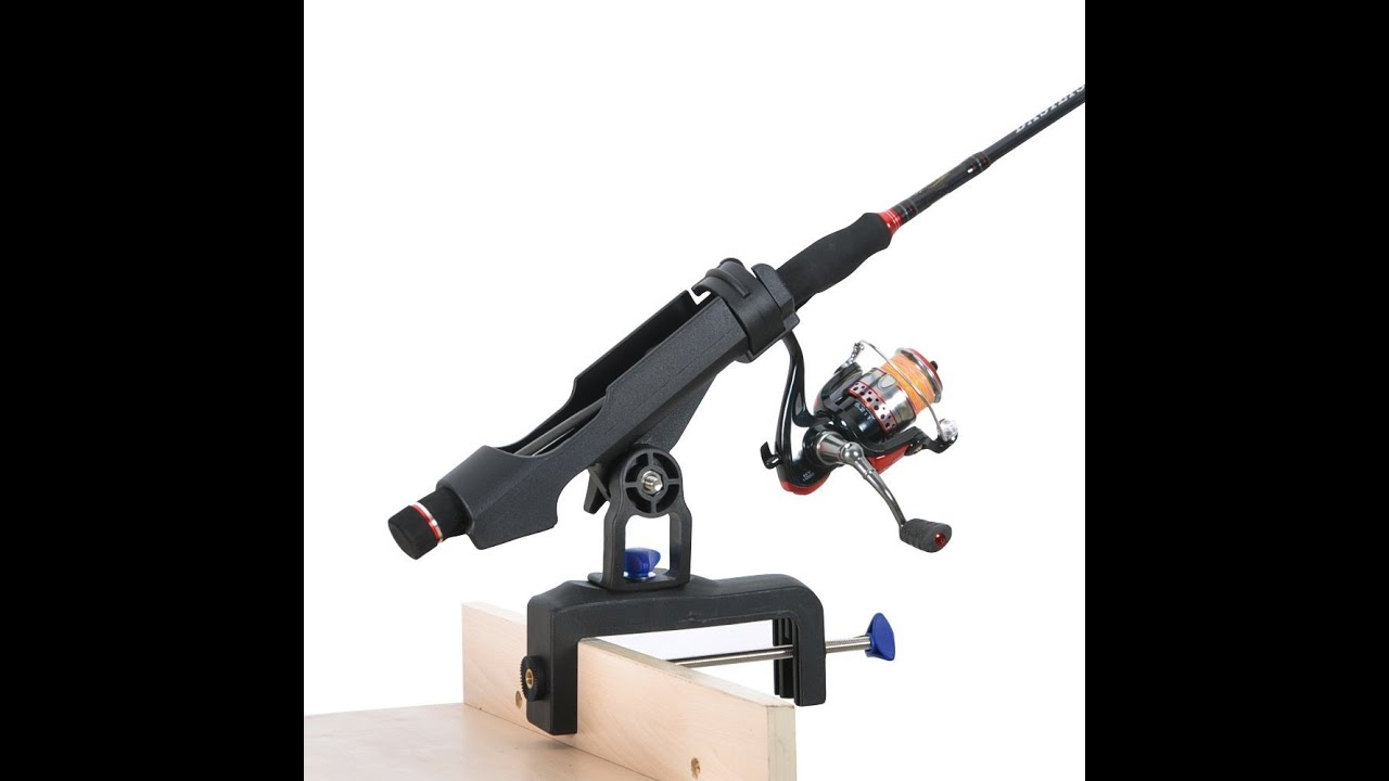 Review versatile boat rod holder with large clamp opening for Pier fishing rod holder