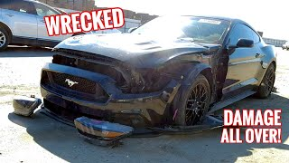 I Bought a TOTALED Mustang GT from Auction without seeing it!