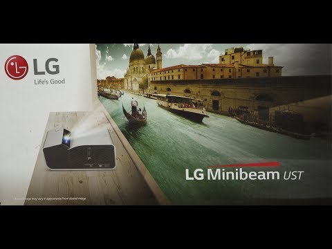 "LG PH450U Projector - Quick Test 154"" Image Projection"