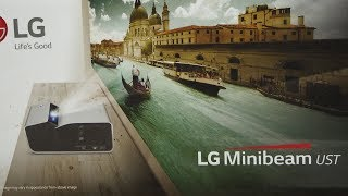 """LG PH450UG Projector - Quick Test 154"""" Image Projection"""