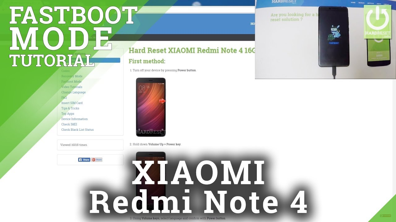 Fastboot Mode XIAOMI Redmi Note 5 Pro - HardReset info