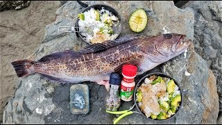 catch and cook boiling rice fish avocado and butter so easy