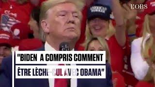 """Lèche-cul"" : Donald Trump insulte Joe Biden pendant un meeting"