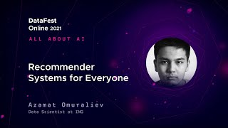 Azamat Omuraliev - Recommender Systems for Everyone