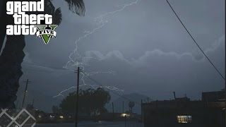 GTA V - EPIC Storm over Sandy Shores (PC/First Person)
