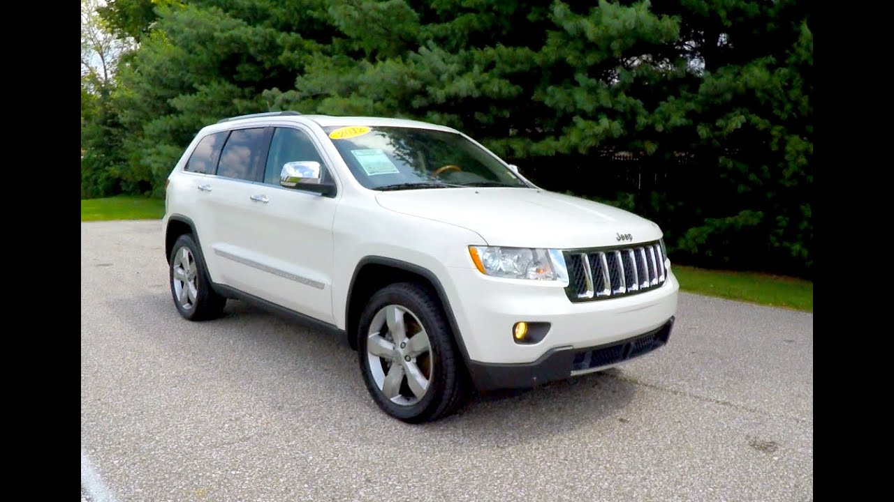 2012 jeep grand cherokee overland 4x4 white jeep dealer. Black Bedroom Furniture Sets. Home Design Ideas