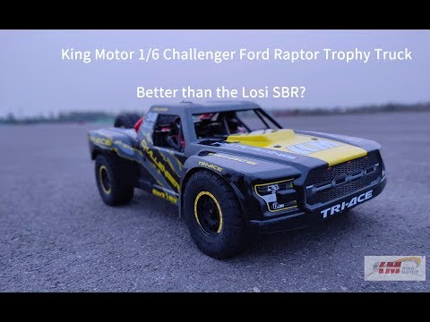 Unboxing The King Motor 1/6 Challenger Ford Raptor Trophy Truck, Better Than The Losi SBR?