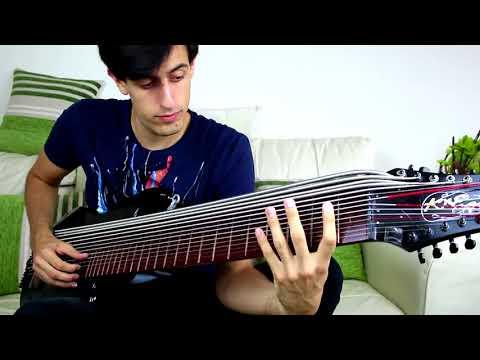 incredible 15 strings bass guitar play!