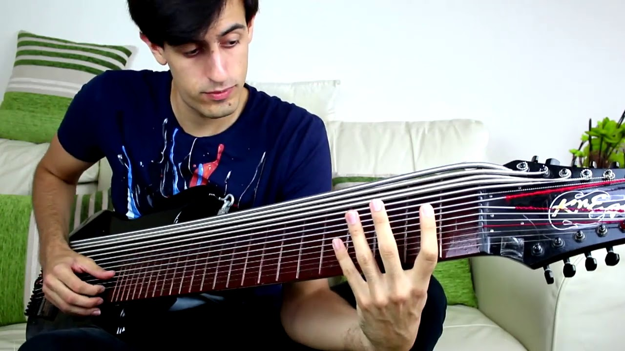 incredible 15 strings bass guitar play youtube. Black Bedroom Furniture Sets. Home Design Ideas
