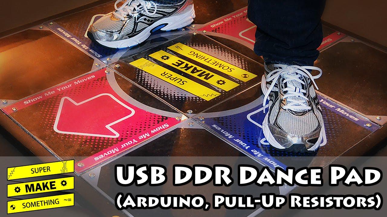 usb ddr dance pad arduino pull up resistors super make