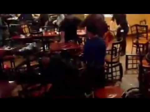 Guy's Face Eats A Flying Chair in Bar FIGHT / RUMBLE / BRAWL
