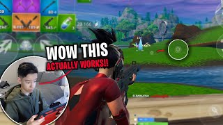 This NEW CROSSHAIR TRICK IMPROVED My AIM!! (Fortnite Battle Royale)