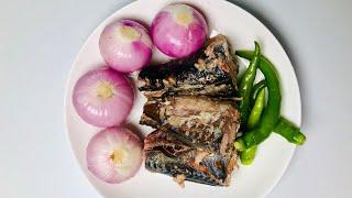 හදිස්සියකට ගෙදර තියෙන දේවල් වලින් සැමන් තෙල් දාගන්නේ මෙහෙමයි🤗 Tempered Mackerel Recipe Salmon Curry