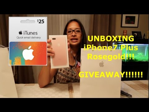 Unboxing iPhone 7 Plus Rose Gold! $25 iTunes Gift card Giveaway! (closed) //Cheers Marie!