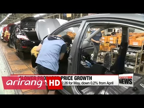 Korea's producer price growth slows in May as fuel costs ease