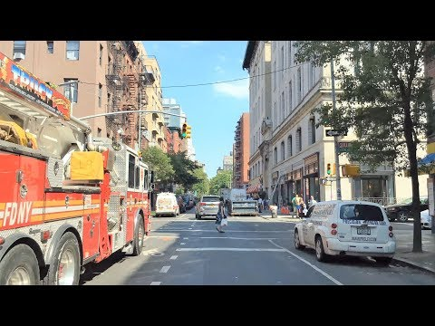 Driving Downtown - Famous Village Street - New York City NY USA