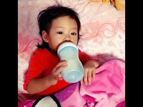Vanessa sick now can drink milk alr.