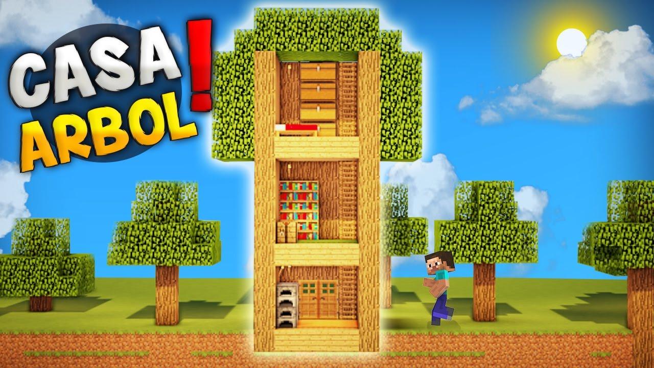 Minecraft como hacer una increible casa dentro de un - Como construir una casa en un arbol ...