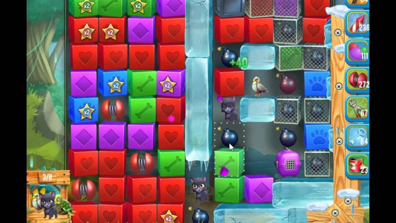 Pet rescue saga pet island 25th november level 5 doovi for Pet island level 4
