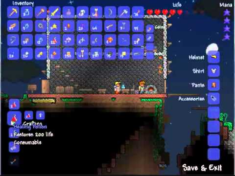 How to craft 200 health Healing potions in Terraria