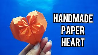 Handmade Paper Heart Making Without Glue Or Scissors Easy Simple Paper Craft