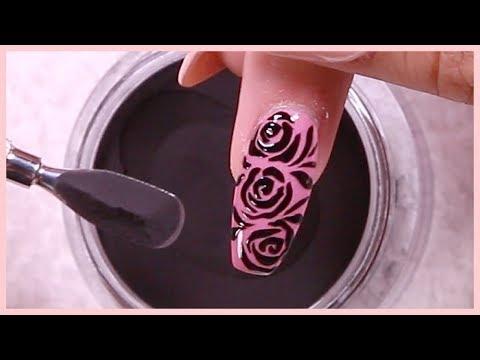 Sugar Nail Art Tutorial with Dip Powder