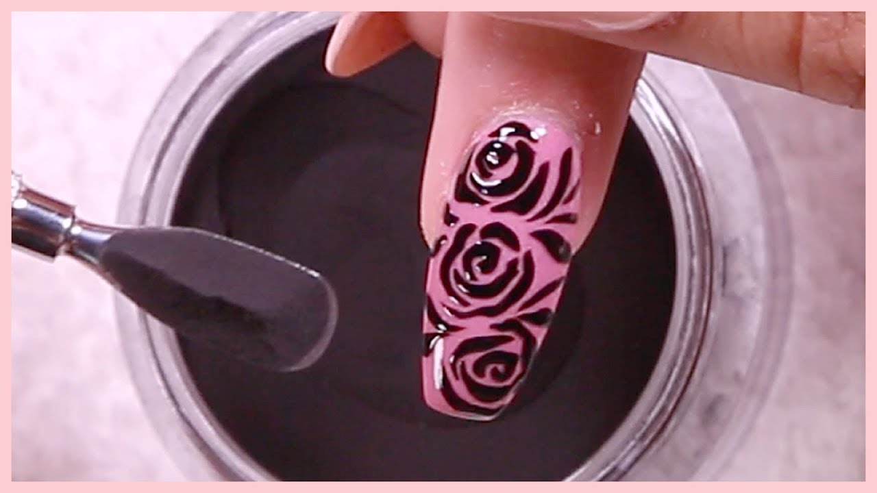 Sugar Nail Art Tutorial with Dip Powder - YouTube