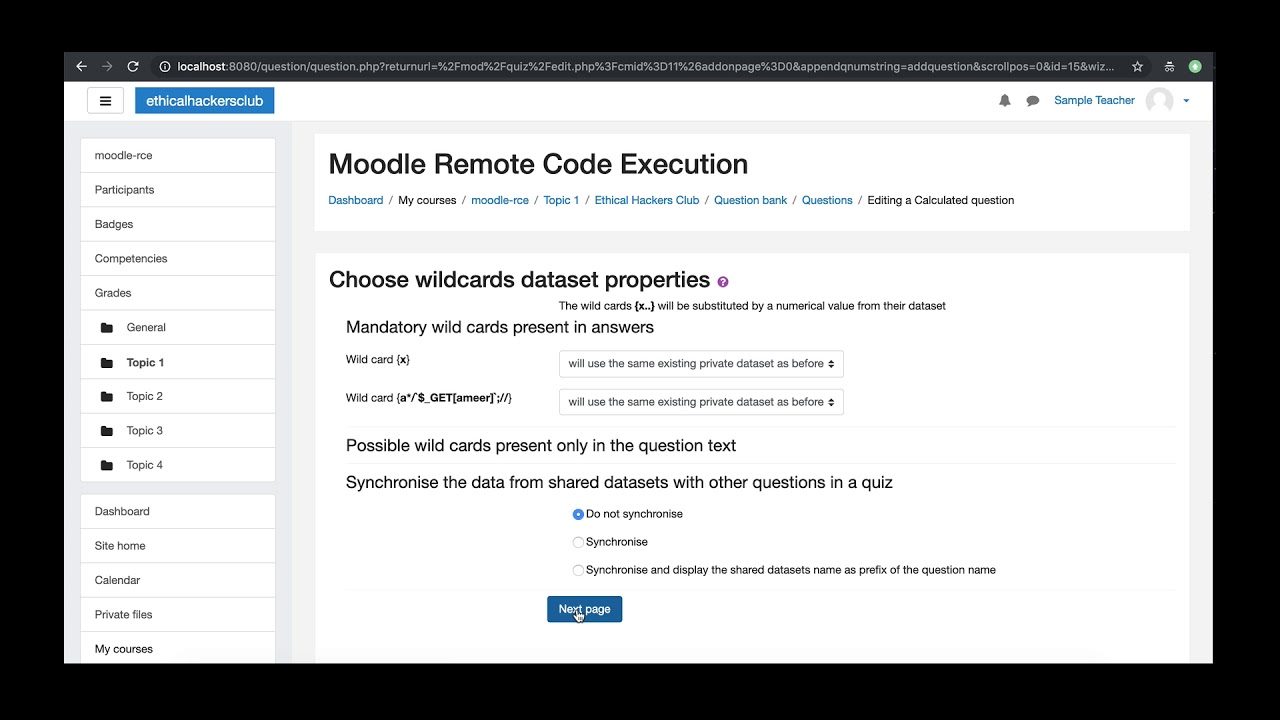 Hacking Moodle and gaining Remote Code Execution on its server