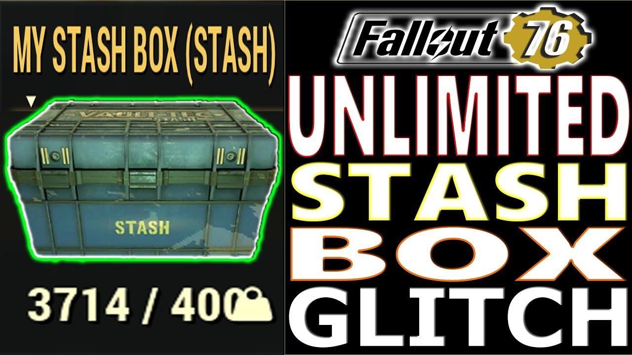 UNLIMITED STASH BOX SIZE GLITCH | Fallout 76 | NO MORE 400 STASH BOX SIZE |  LIMITLESS STASH SIZE BOX