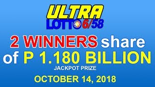 PCSO Ultra Lotto 6/58 Result October 14, 2018 - Lotto Results Today