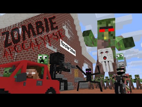 Monster School : ZOMBIE APOCALYPSE - Minecraft Animation