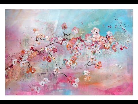 Tutorial: Kirschblüten malen (Anfänger) Cherry Blossoms(beginners)