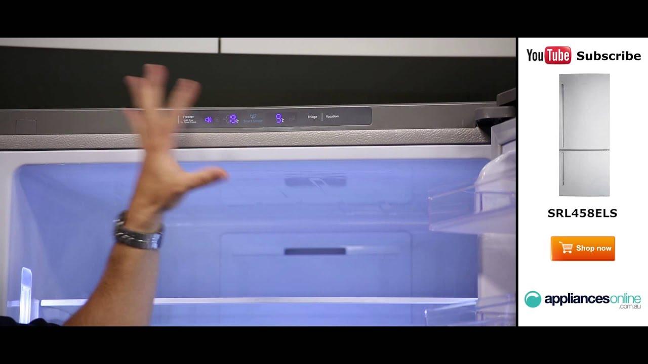 458l samsung bottom mount fridge srl458els reviewed by product expert appliances online youtube