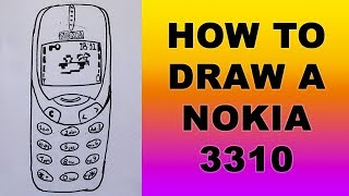How to Draw a Nokia 3310