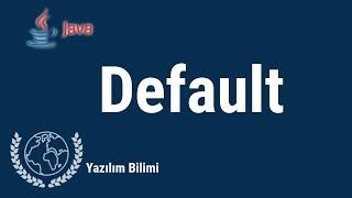 Java Programlama Dersleri 38 Default Erişim Belirleyici