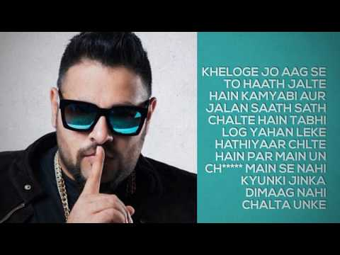 badshah inception lyrical video