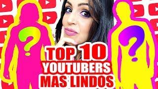 Los 10 Youtubers MAS LINDOS! Imitando Youtubers Top 10 - SandraCiresArt #TopTen
