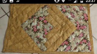 Tapetes de retalhos com tiras de tecidos