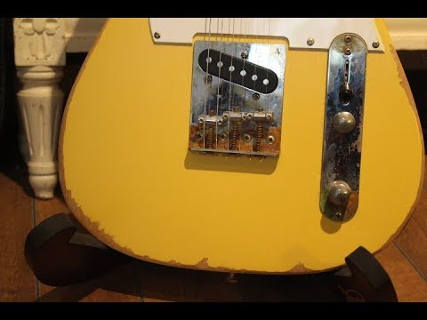 Harley Benton Guitar Kit T Style Part 8 Oiling Relics