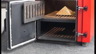 Твердотопливный котел на дровах и угле нижнего горения Amica Time (Амика Твйм) Видео обзор