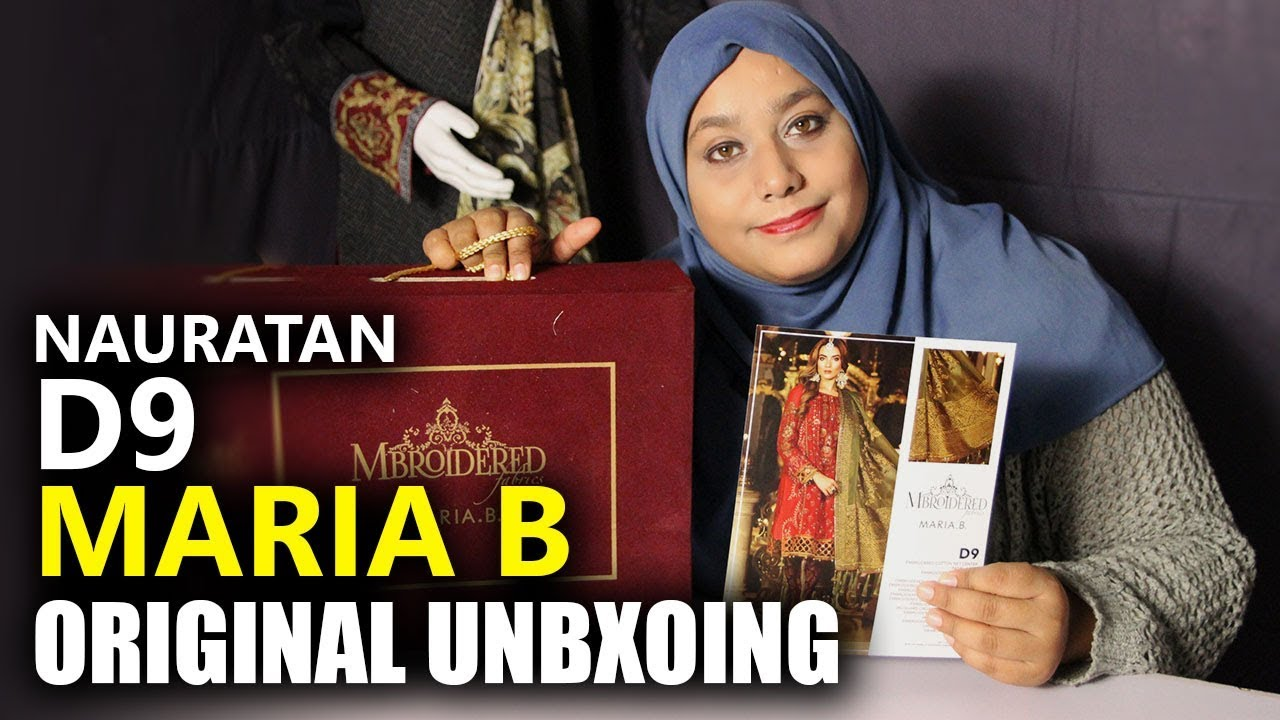 43417c6e80 👰 Maria B Wedding Collection 2018 - Unbox Nauratan BD09 - Sara Clothes  Dresses - YouTube