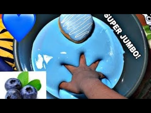JUMBO BLUBBERY SLIME TUTORIAL!! + HEART DONUT (REUPLOAD)
