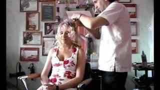 видео парикмахер на дом свадебная прическа