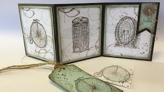 How to make a 3 fold card using Timeless Textures