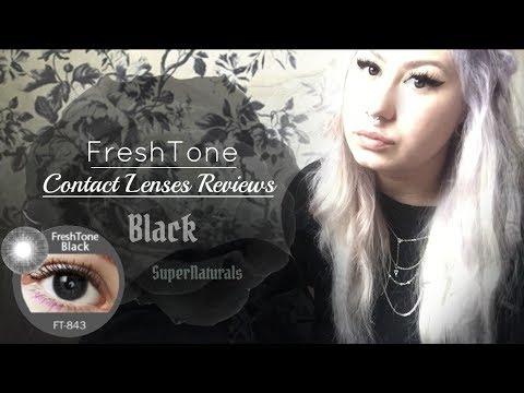 🌑(REVIEW): Black FreshTone Contact Lenses SuperNaturals🌑